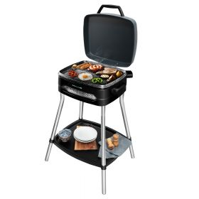 Retourdeal R1 - Cecotec Elektrisch staand barbecue - Anti aanbak - Grill - bbq - Barbeque - RVS